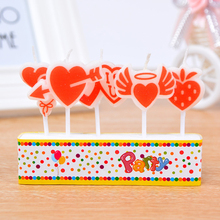 pcs/set Lovely Bus Fruit Birthday Candle Kid's Gift Hot Sale