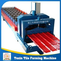 Stone chip coated steel roof tile making machine