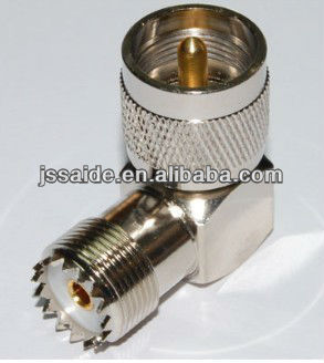 UHF-JKW male to female right angle RF adapter