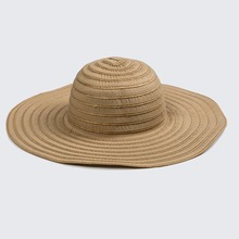 Elegant Wide brim with custom Cloth/Feather Decorate hatband fashion summer hats, sun straw floppy for ladies hat