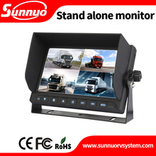 7'' AHD Vehicle Safety Monitor With Quad and DVR Recording function