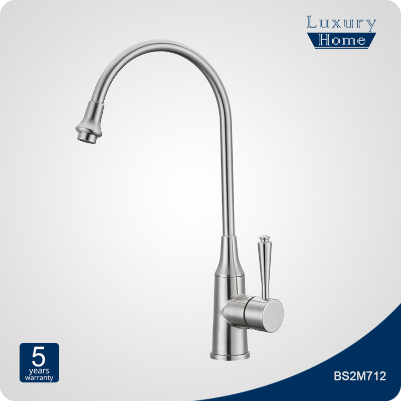 gooseneck stainless steel drinking water faucet