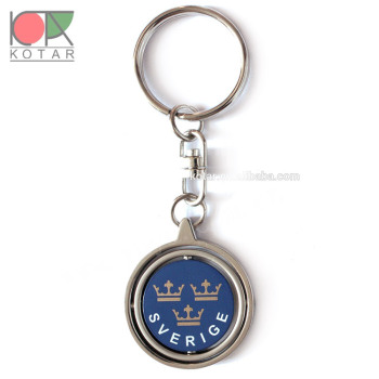 customized sweden spinner keychains
