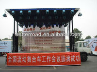 High quality Mobile stage truck length:13m stage area:105 m2