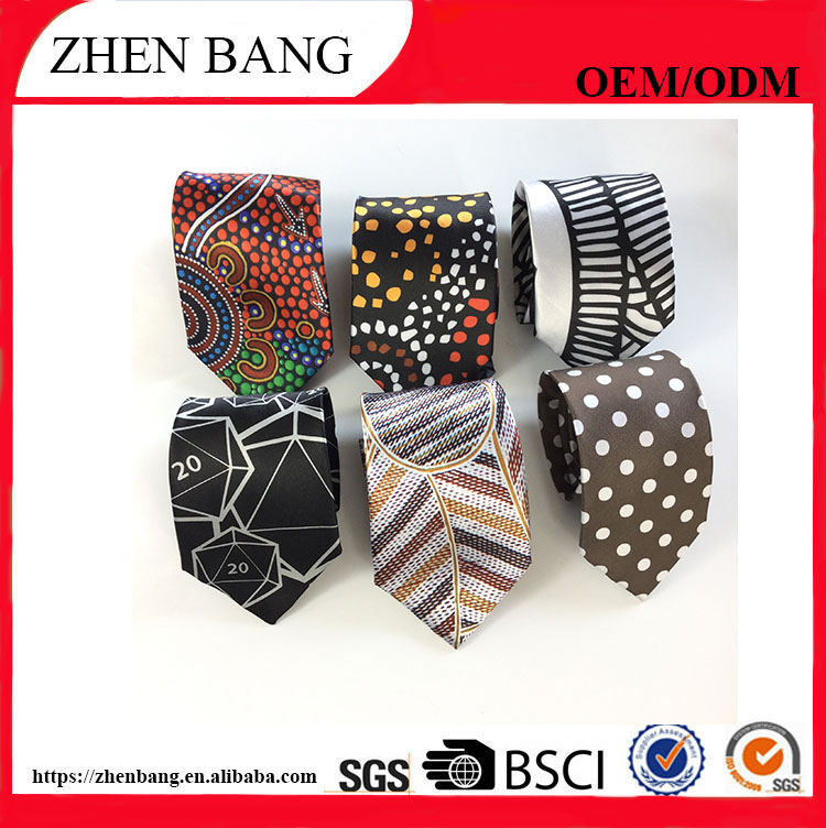 Custom 100% silk woven pattern waterproof necktie