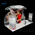 Create 3x6m aluminum trade show booth cosmetic exhibition