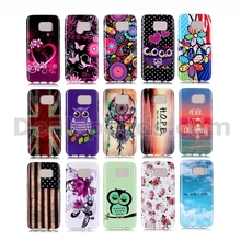 Fashion Bordure Ultra-thin Back Case for Samsung Galaxy S7 Edge TPU Cover, Drawing Case