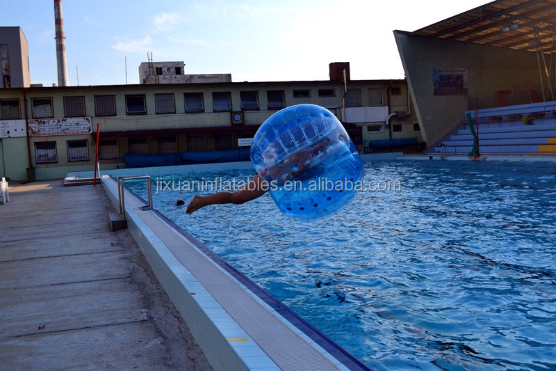 inflatable hollow plastic bouncing balls/plastic bubble ball , bubble bumper ball