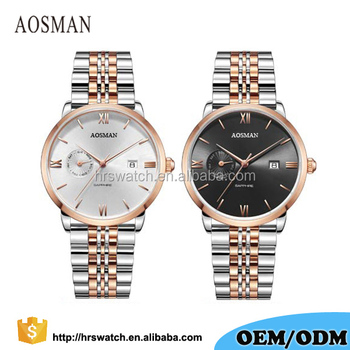 Customize Mens Watch with Japan movt quartz watch stainless steel back