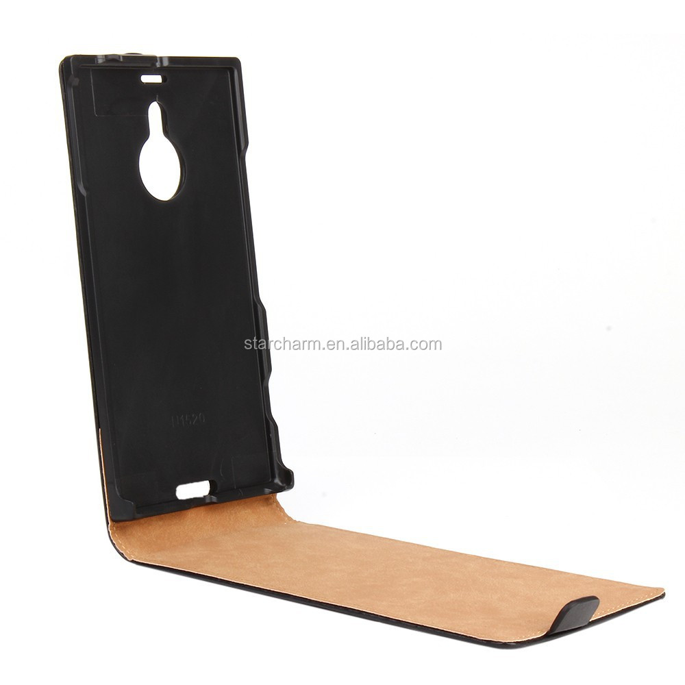 Flip genuine for Nokia lumia 1520 leather covers case