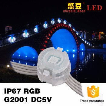 RGB 0.3W DC5V 20mm SMD5050 CE & RoHS Approved Waterproof Led Pixel Light