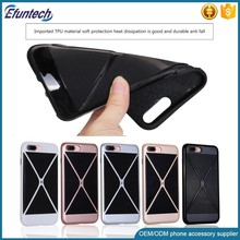 Hot selling 2 in 1 plastic phone case for iphone 7 7 plus case cover