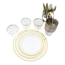 wedding plastic <strong>plates</strong> gold rim plastic <strong>plate</strong> disposable rose gold plastic <strong>plates</strong>