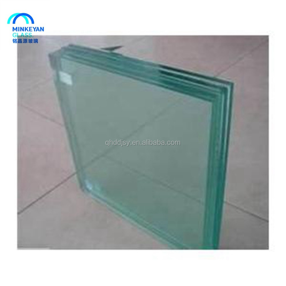 6+6 12mm Laminated tempered glass fence panels with polished edge