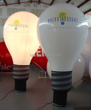 Hot sale inflatable LED light bulb, light helium balloon