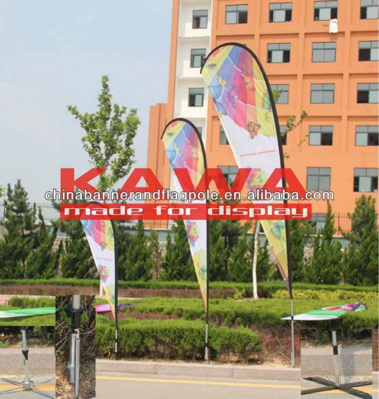 flying banner display stand fiberglass light pole