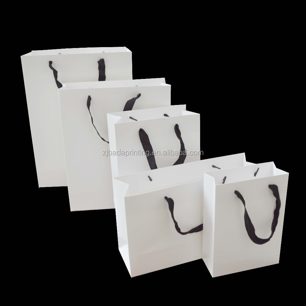 Custom Card Paper Bag With Drawstring Handle/ Shopping Paper Bag