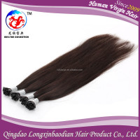 hairstyles for round faces Top grade Best Selling Natural Straight Black Brazilian Hair Nail Tip Human Hair Extention