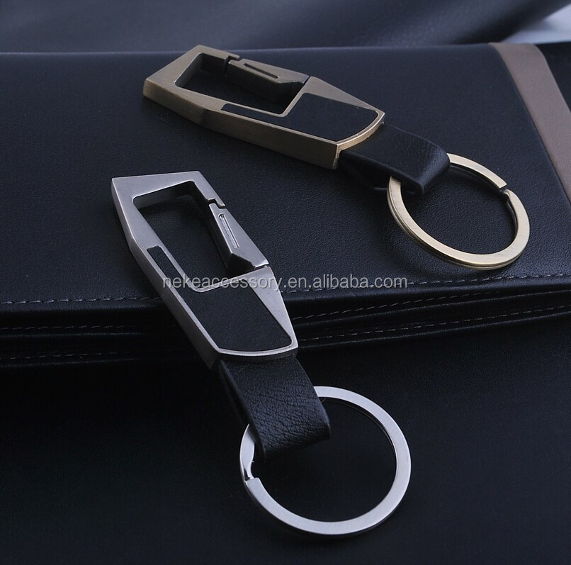 high quality leather key chain man keychain