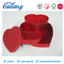 Oem handmade paper metal paper heart shape chocolate packaging box for wedding invitation
