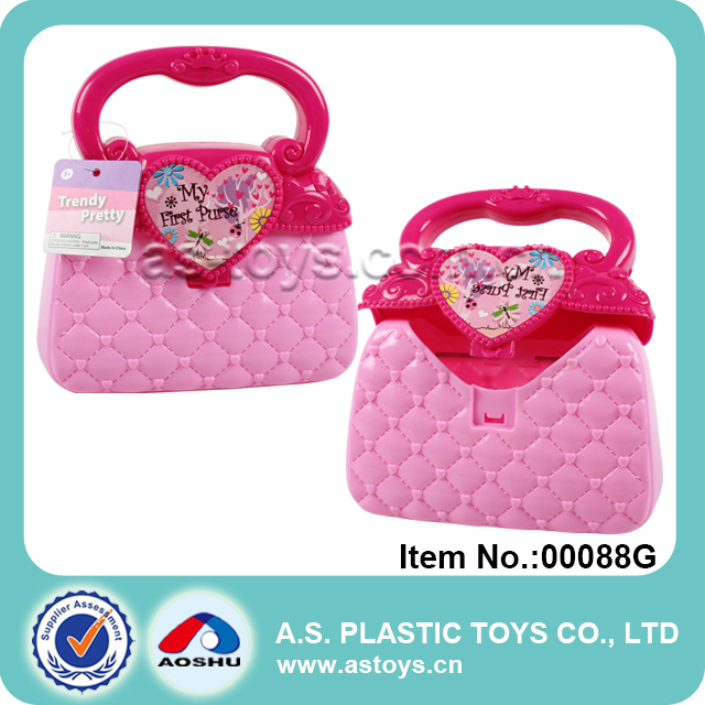18cm Trendy Pretty Mini Plastic Kids Toys Handbag for Girls