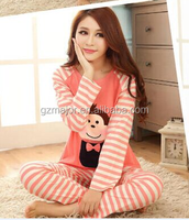 Custom cotton fancy cute women pajamas girls sleep night wear home clothes