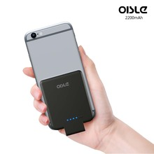 OISLE 2200mAh Wireless Bank Power Palm-Sized Ultra Slim Battery Pack for iPhone