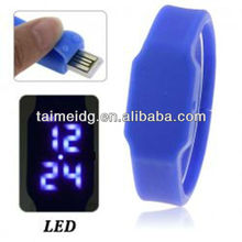 2013 new LED Bracelet Silicone USB Flash Watch