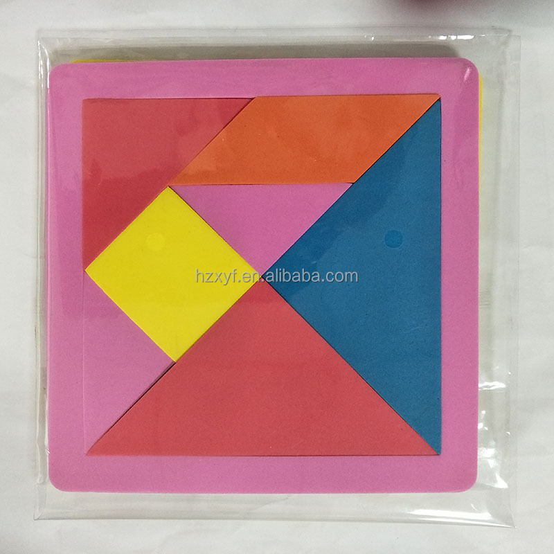 Puzzles Funny Magnetic Tangram Kids Toys Challenge IQ for Children