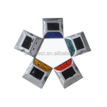 Reflective Aluminum Solar Road Studs OEM/ODM Silica Sol Investment Casting Yellow And Red Color