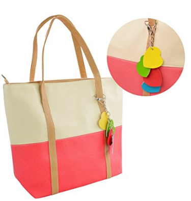 large colorful Cheap handbags fashion Trency Cheap in stock Contrast Color Handbag