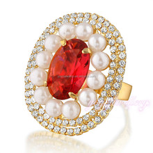 Wholesale mood new design gold finger stone ring