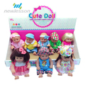cheap child toy set reborn baby plastic mini craft dolls with show box