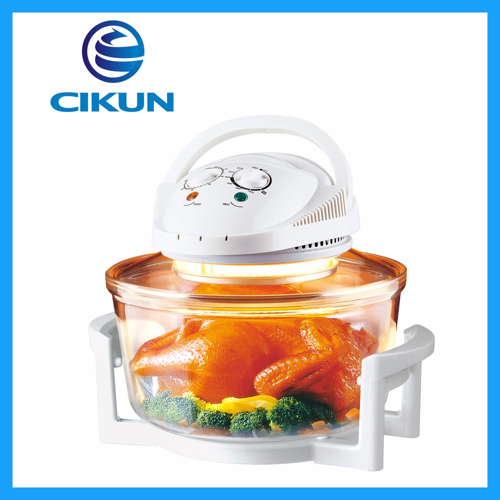 New cookshop tabletop halogen oven with recipes 1300W