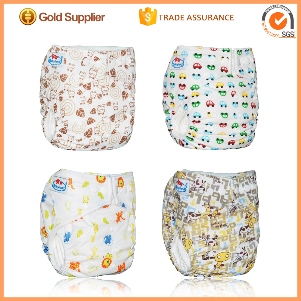 Babyland Reuseable Baby Nappies Cloth Nappy Washable Diaper