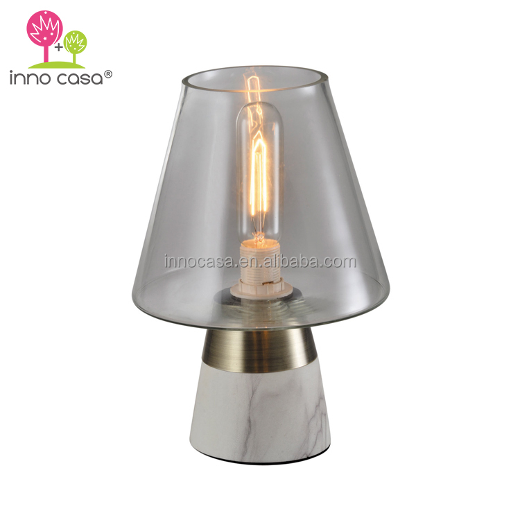 Modern Edison Bulb Marble Base Cone for Homeware Bedside Table Mood Lamps