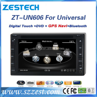 in-dash double din universal car dvd player built in gps navigation/radio/audio car multimedia