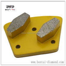Metal-Bond Diamond Tools Double-Rhumbus Trapezoid Grinding Pads - Grit 30/80/150