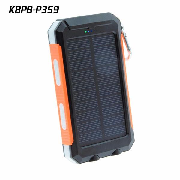10000 Mah Solar Battery Pack Waterproof 2 W Solar Panel