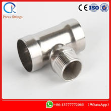 socket weld tee - reducer with male thread stainless steel from 15mm to 108mm