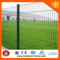 alibaba express Green coated welded metal fencing panels /Green powder bending garden
