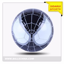 Custom design PVC leather machine stitched spider man soccer ball for children