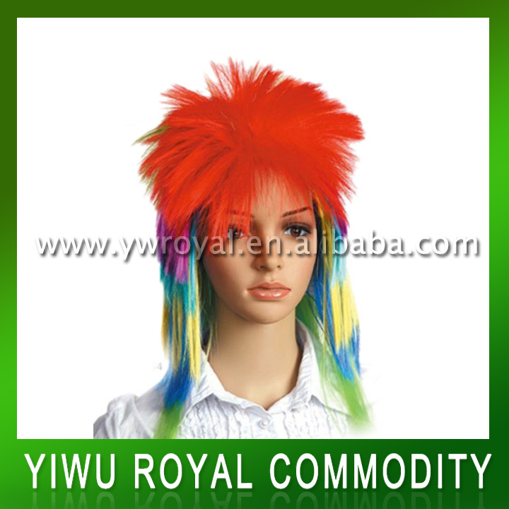 Hot Sale Muti-color Synthetic Crazy Fans Wig