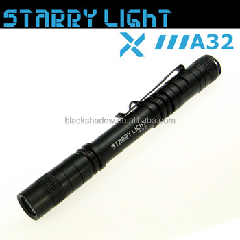 StarryLight A32 dry battery mini led flashlight keychain flashlight pen