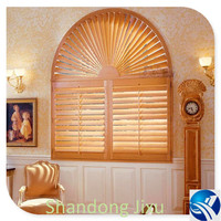 Good Quality low MOQ arched solid window shutters from China