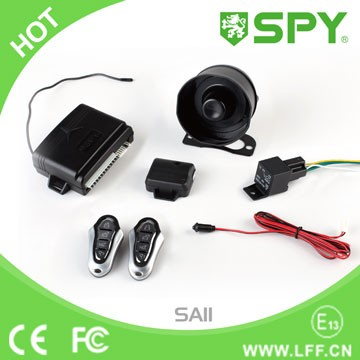 Car alarm system, spy brand the most popular model universal car security system
