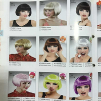 RX-010 Yiwu caddy Fashion queen human hair wig young girl short jewish wig beauty look full lace wig