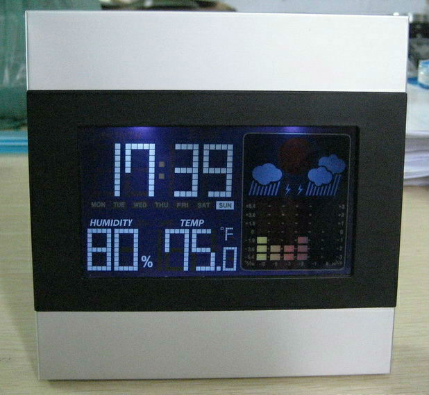 Hot selling solar powered digital clock for promotion gift