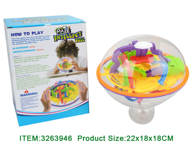 3D Plastic Kid Educational Toy Game Maze Ball