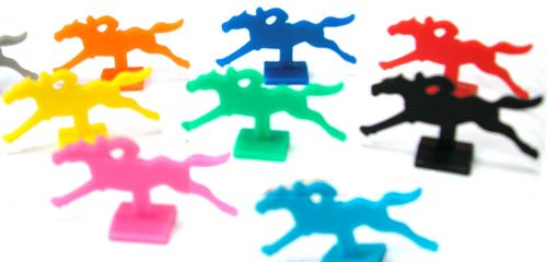 Horse Racing or Equestrian Plastic Pawns